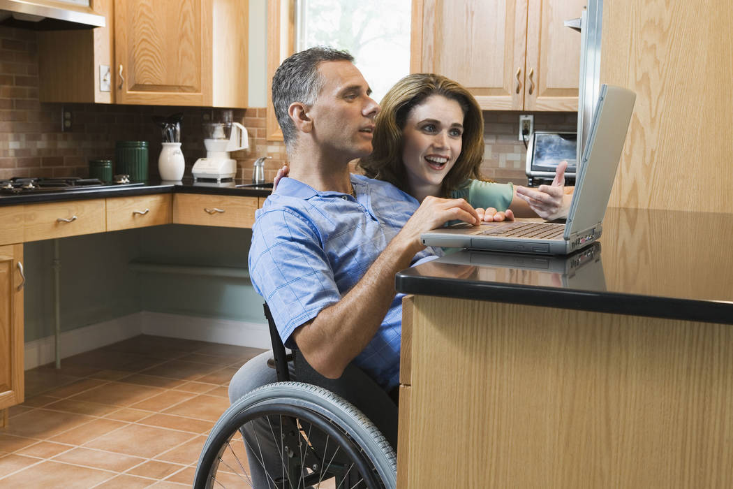Getty Images Kitchens for the disabled have lower countertops and under-counter space for wheel ...