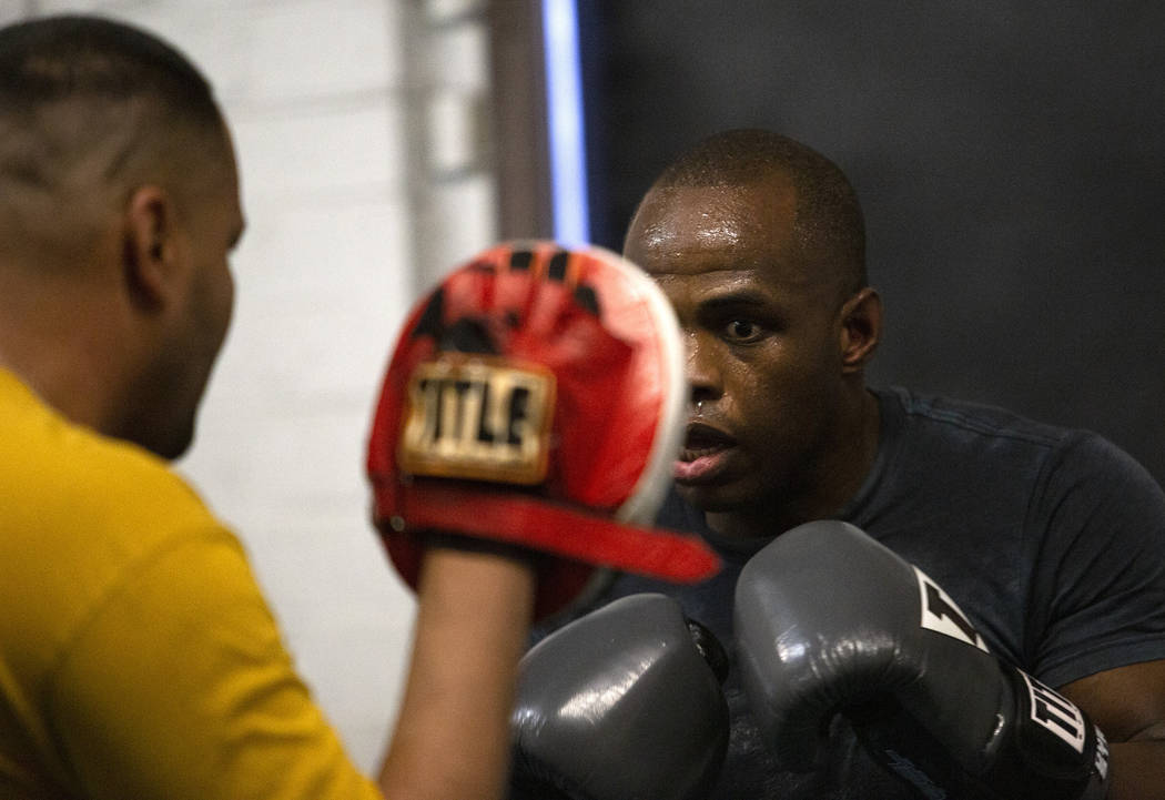 Heavyweight boxer Rubens Nicolas eyes to make a punch on Friday, Jan. 24, 2020, at Johnny Tocco ...