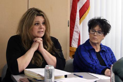 Debra Shaffer-Kugel, right, executive director of the Nevada State Board of Dental Examiners, l ...