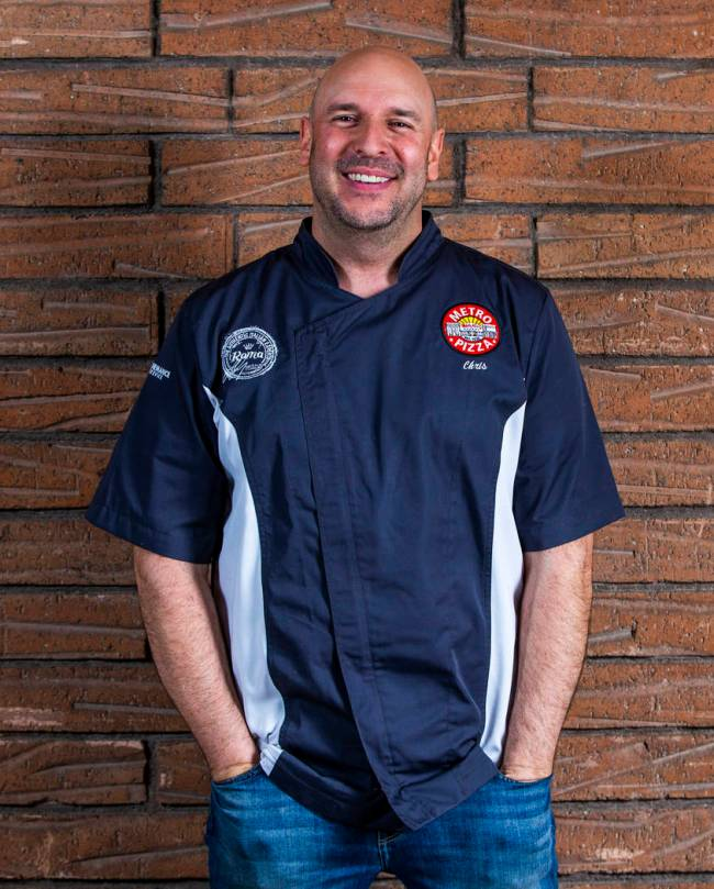 Chris Decker of Metro Pizza. (L.E. Baskow/Las Vegas Review-Journal)