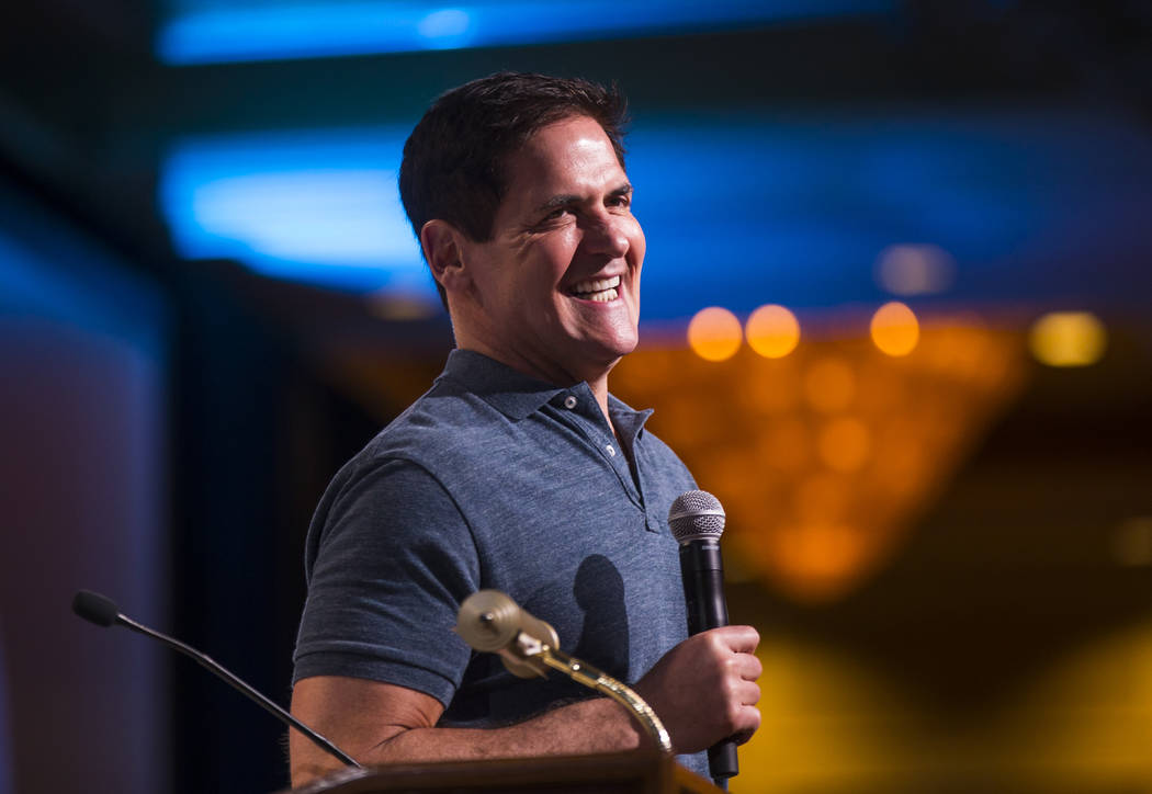 Entrepreneur Mark Cuban answers questions from students during the Adelson Educational Campus' ...