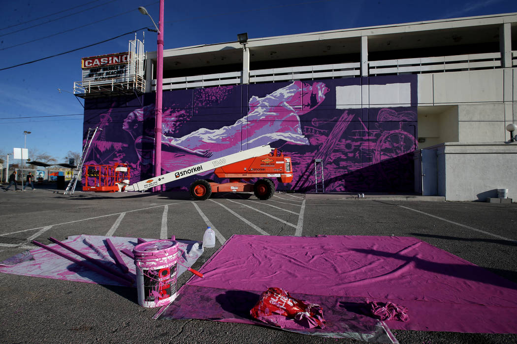 "The mural ""Mermaids Don't Wear Skirts,"" a collaboration between street artists Aware ..."