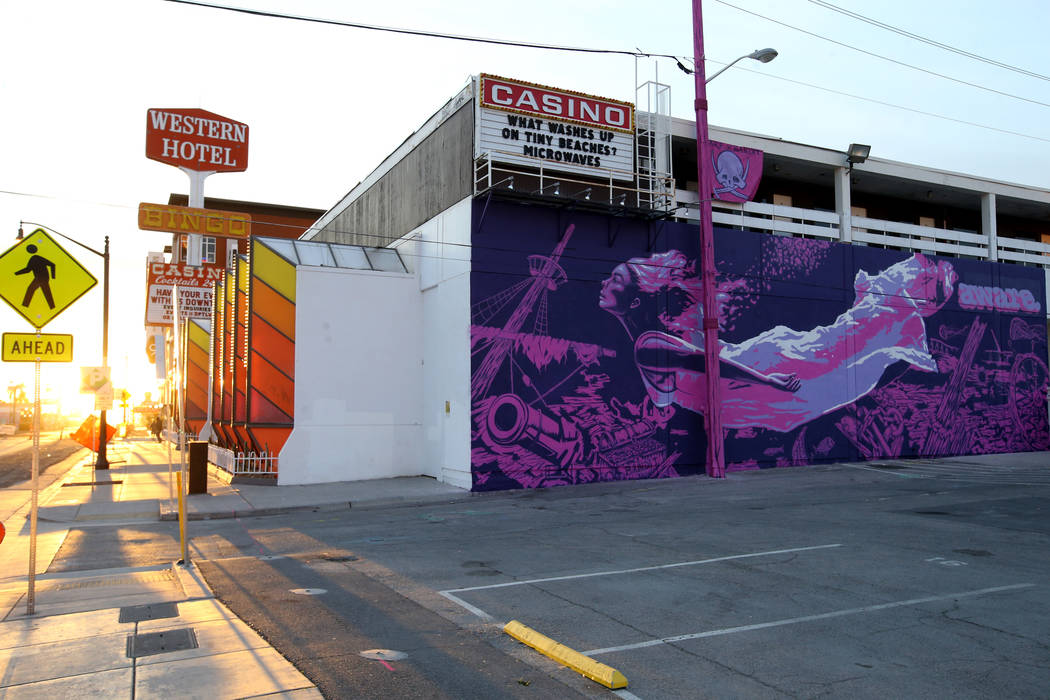"The mural ""Mermaids Don't Wear Skirts,"" collaboration between street artists Aware and Bandit, ..."