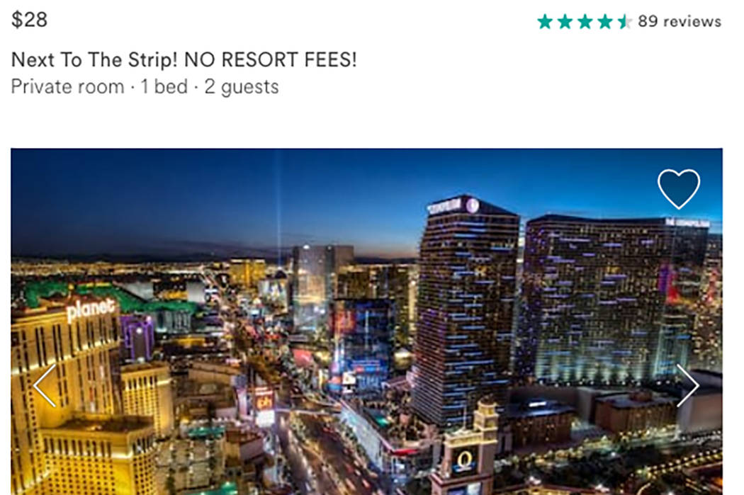 Airbnb offers guests room rentals in place of hotel rooms in Las Vegas. (Airbnb)