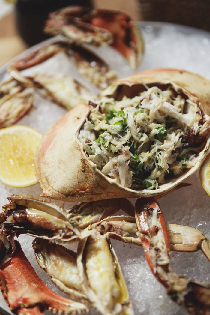 Stuffed crab at Elio. (Hagop Kalaidjian)