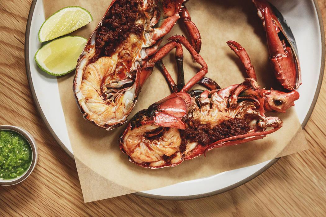 Lobster stuffed with chorizo at Elio. (Hagop Kalaidjian)