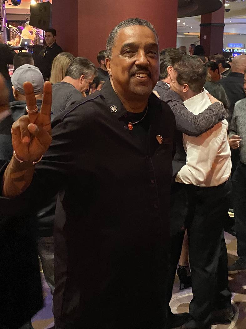 Bartender Bernard Dixon, a Hard Rock Hotel employee since the hotel opened in 1995, is shown at ...
