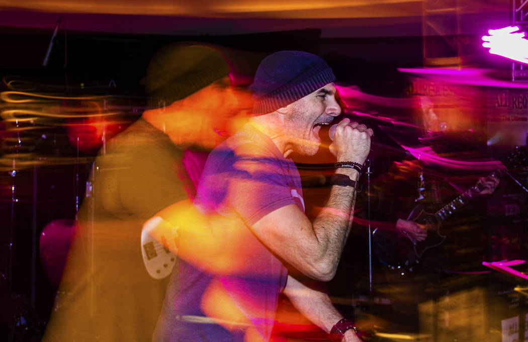 All Request Live performs during an event to say goodbye to the Hard Rock Hotel on Saturday, Fe ...