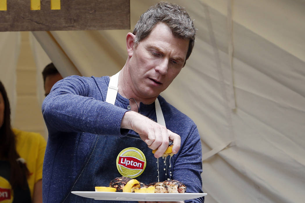 """Chef Bobby Flay turned """"head counselor"""" demonstrates how to make delicious summer dishes using ..."""