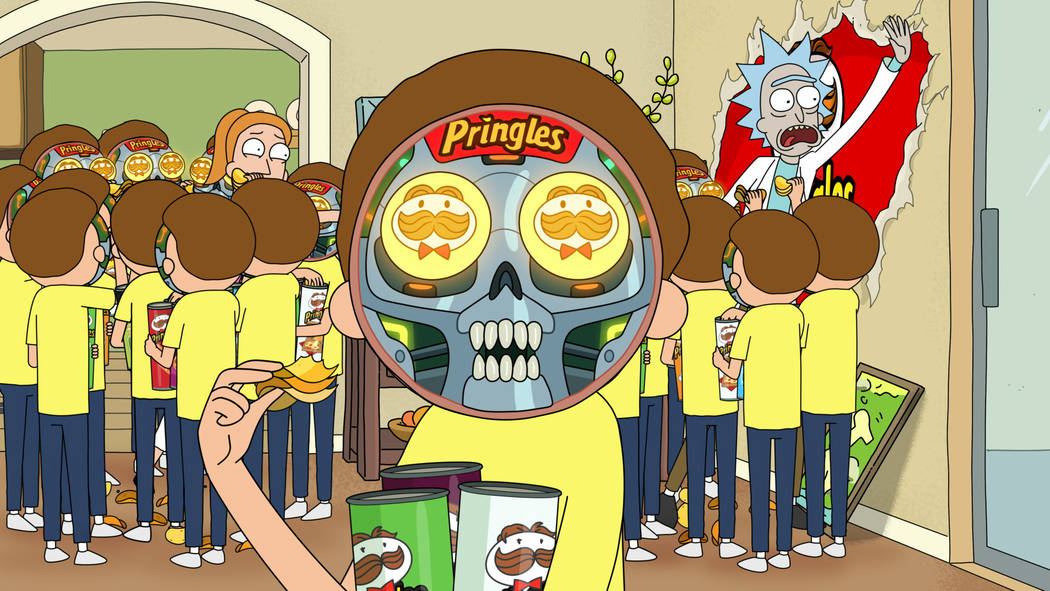 This undated file image provided by Pringles shows a scene from the company's 2020 Super Bowl N ...