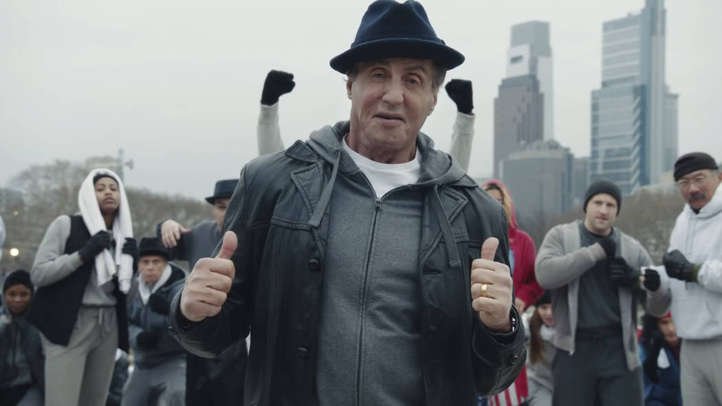 This undated image provided by Facebook shows Sylvester Stallone in a scene from the company's ...