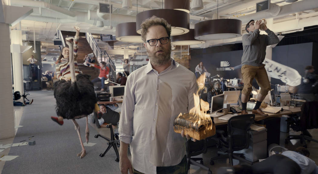 This undated image provided by Little Caesars shows Rainn Wilson in a scene from the company's ...