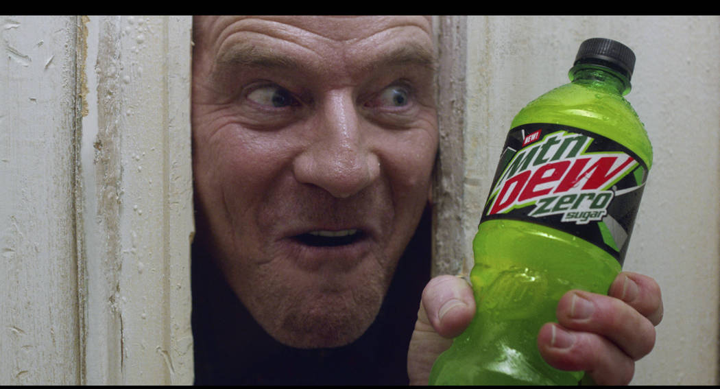 This undated image provided by Mountain Dew shows Bryan Cranston in a scene from the company's ...