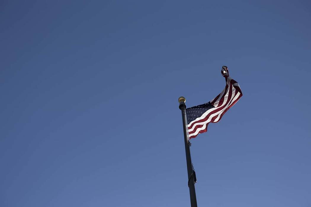 Windy and cold conditions will prevail in the Las Vegas Valley on Monday. (Rachel Aston/Las Veg ...