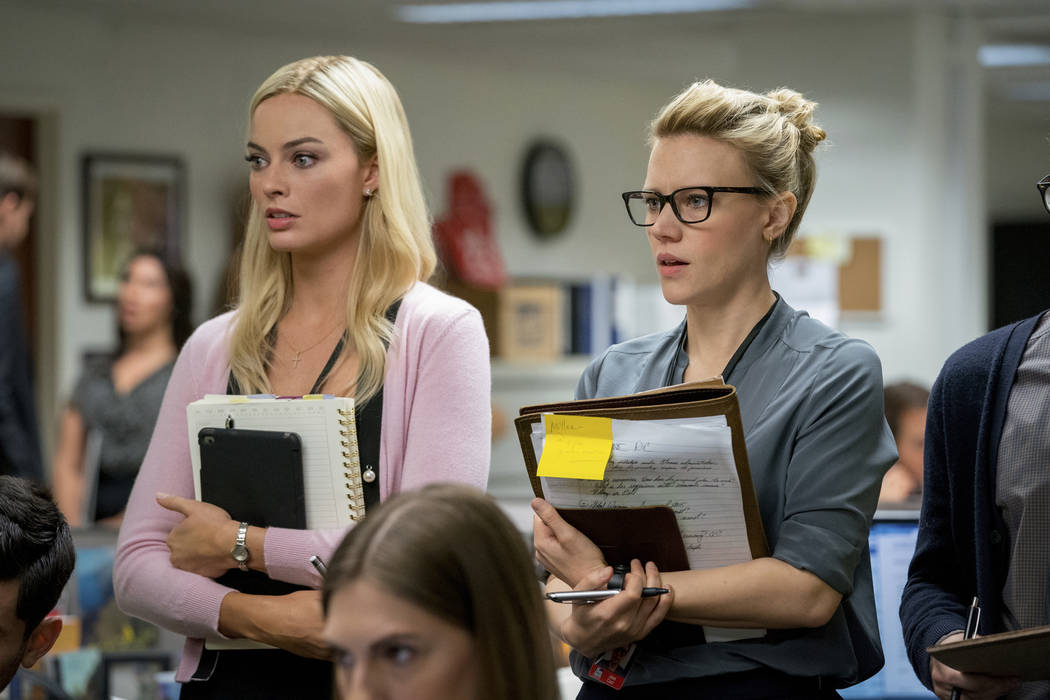 This image released by Lionsgate shows Margot Robbie, left, and Kate McKinnon in a scene from & ...