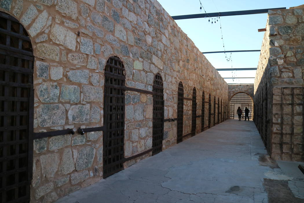A dreary cell block at the Yuma Territorial Prison State Historic Park. (Deborah Wall/Las Vegas ...