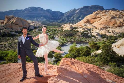 Krista Baker, a dancer with Nevada Ballet Theatre, and husband Jordan Mendoza, along with Baker ...