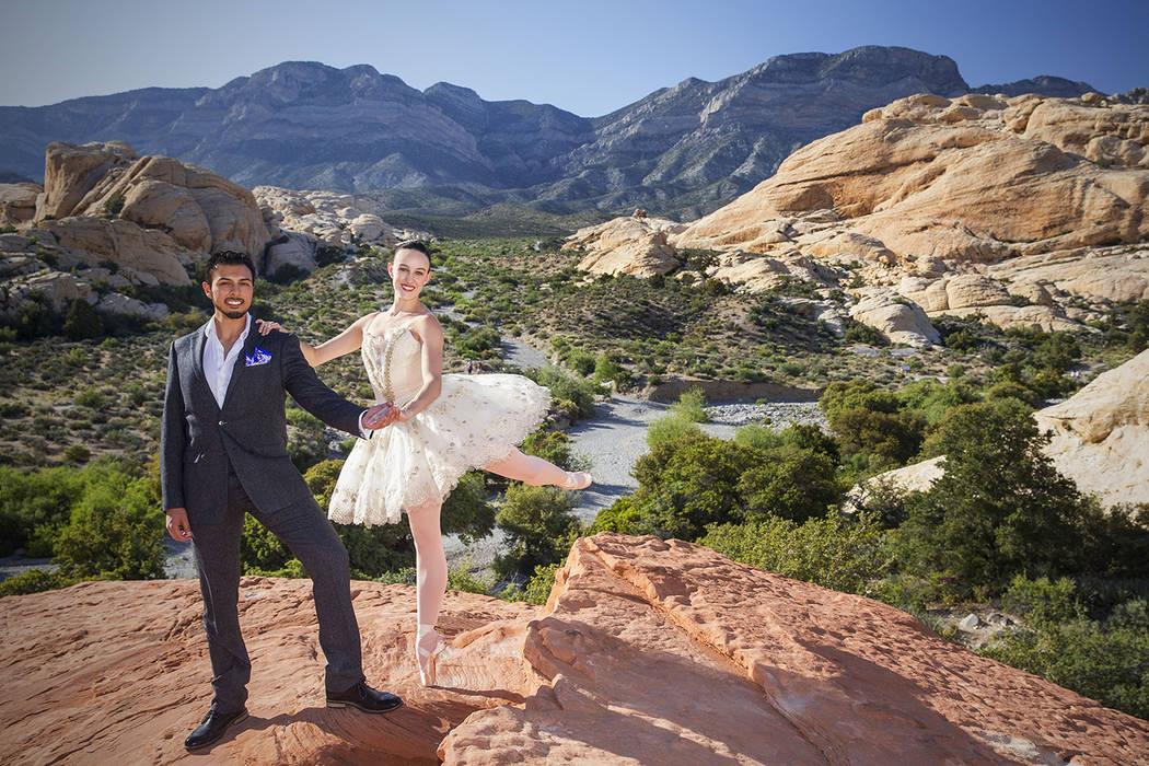 Krista Baker, a dancer with Nevada Ballet Theatre, and husband Jordan Mendoza, along with Baker ...
