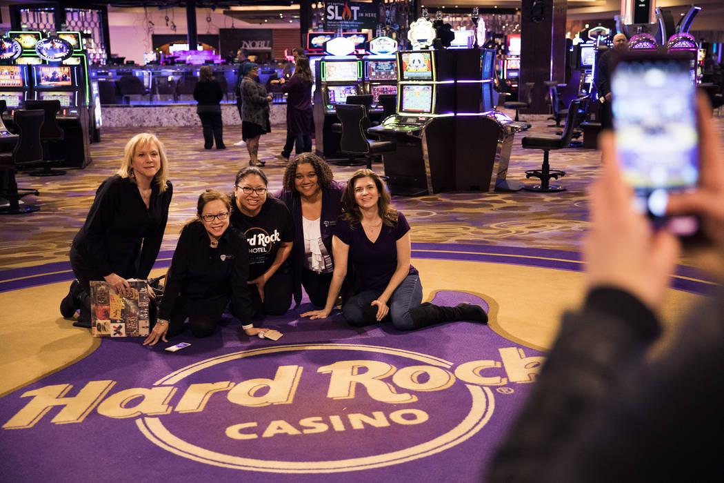 Kelly Abeyta, from left, Marilyn Morala, Teresa Rios, Jennifer Hershkovitz, and Samantha Carter ...