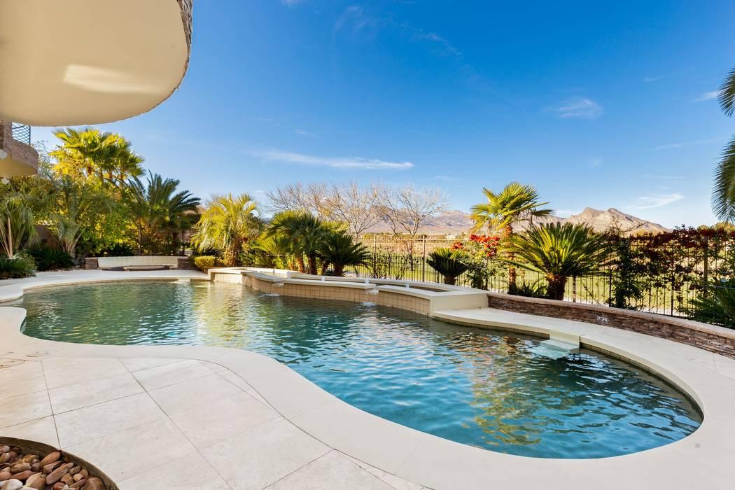 The resort-like backyard has a salt-water pool. (Ivan Sher Group)