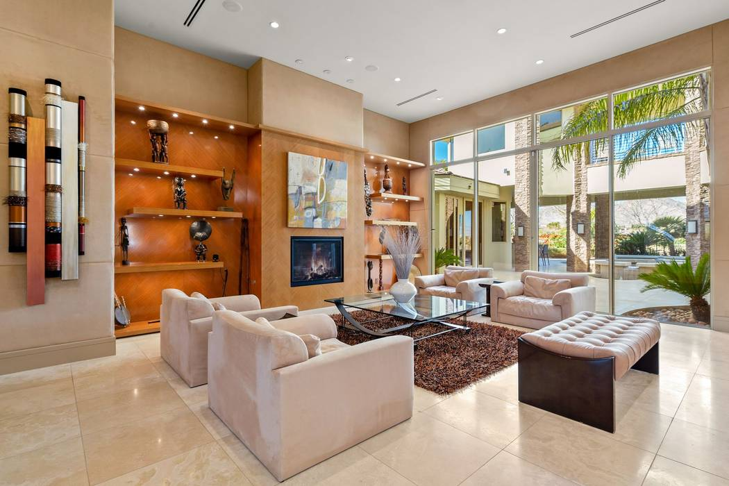 The living room opens to the pool. (Ivan Sher Group)