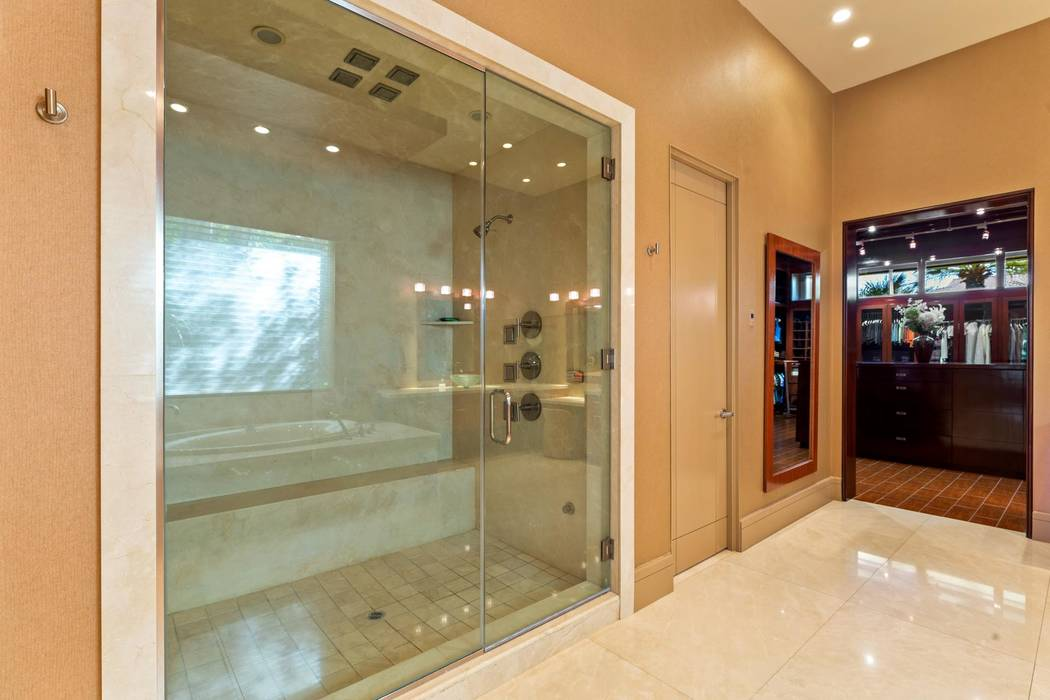 The master bath has a large shower. (Ivan Sher Group)