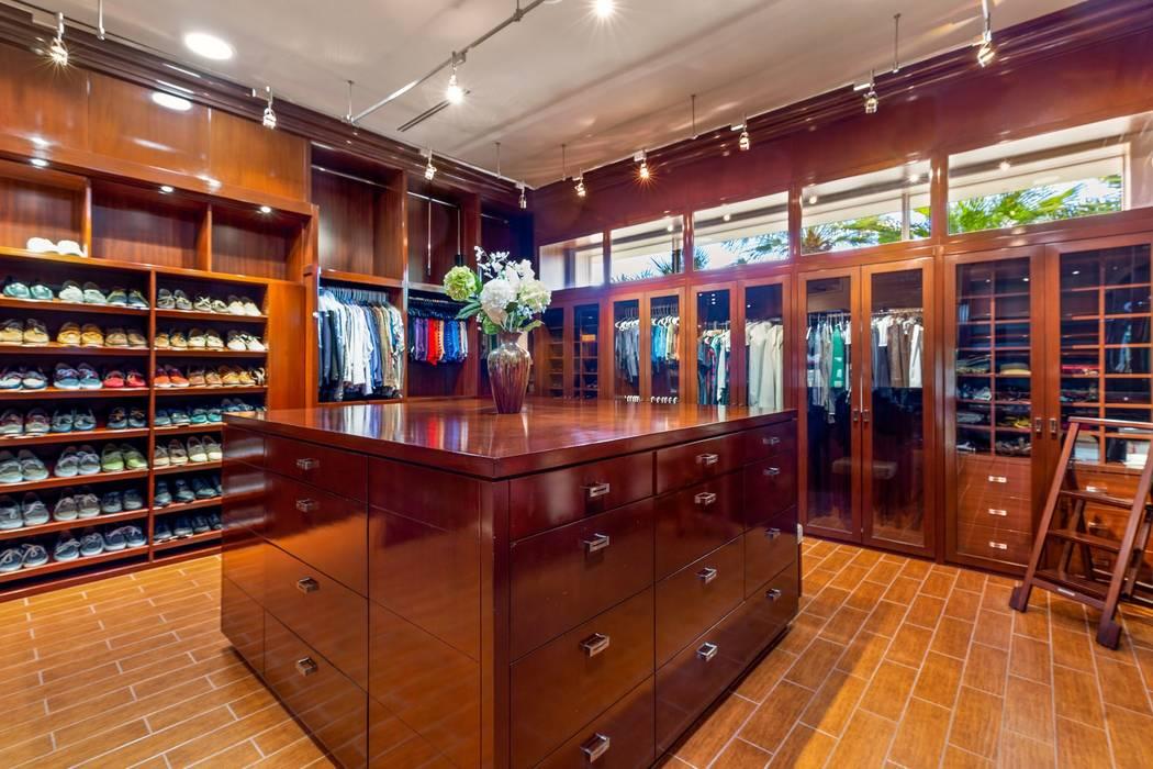 The 400-square foot closet has mahogany built-ins. (Ivan Sher Group)