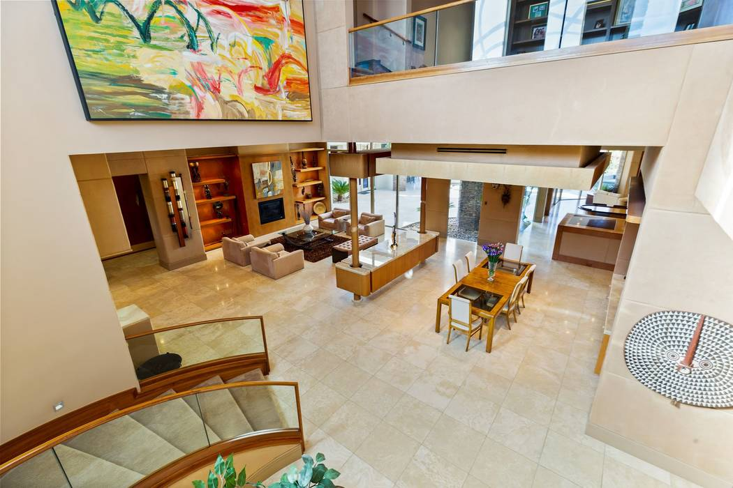Located on the TPC Las Vegas Golf Course, the 12,314-square-foot home is listed for $3.5 millio ...