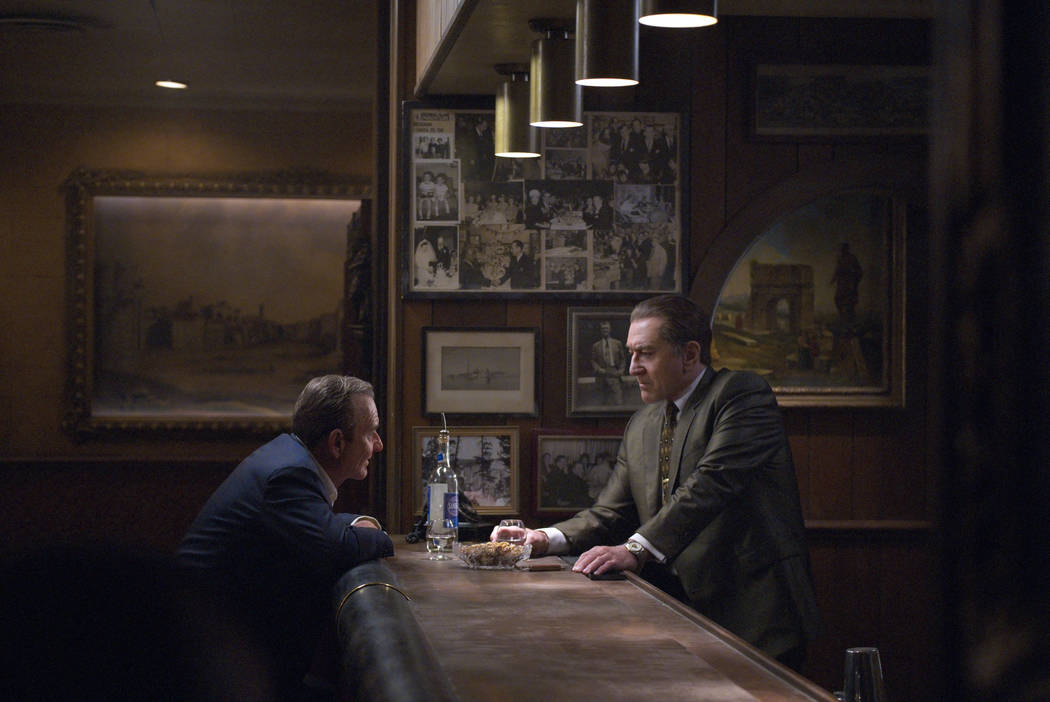 "This image released by Netflix shows Joe Pesci, left, and Robert De Niro in a scene from ""The I ..."