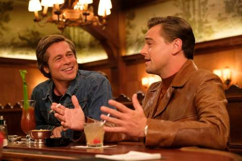 "Brad Pitt and Leonardo DiCaprio star in ""Once Upon a Time in Holywood."" ONCE UPON TIME IN HOLLY ..."