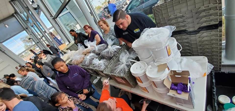 Findlay Volkswagen Henderson employees and customers joined forces to help feed hungry young pe ...