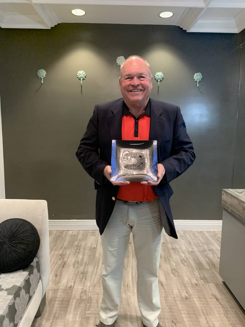 Kevin Parrish, the 2019 Southern Nevada Golf Association silver division player of year, achiev ...