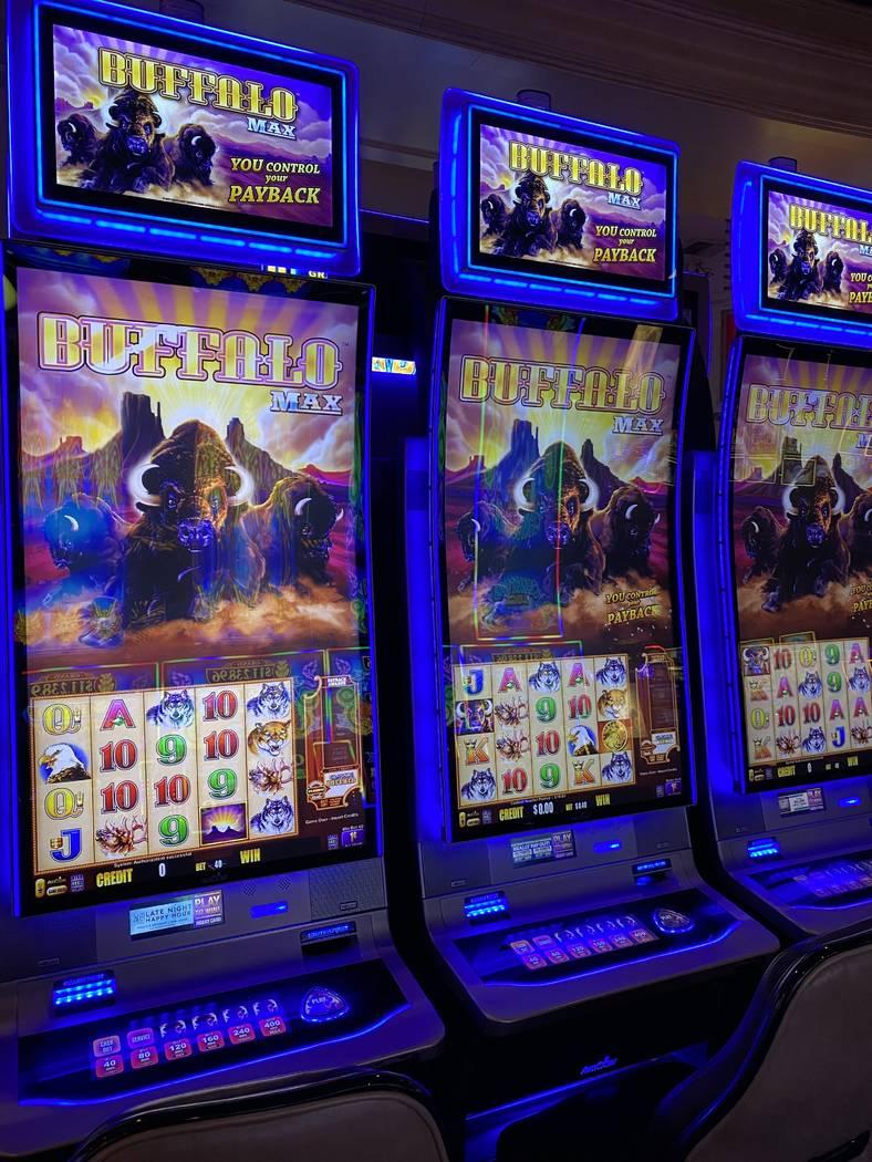 Buffalo branded slot machines at Rampart Casino in Summerlin. (Al Mancini Las Vegas Review-Journal)