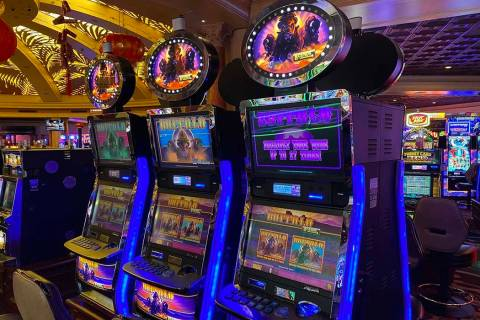 Buffalo branded slot machines at Rampart Casino in Summerlin. (Al Mancini Las Vegas Review-Journal)