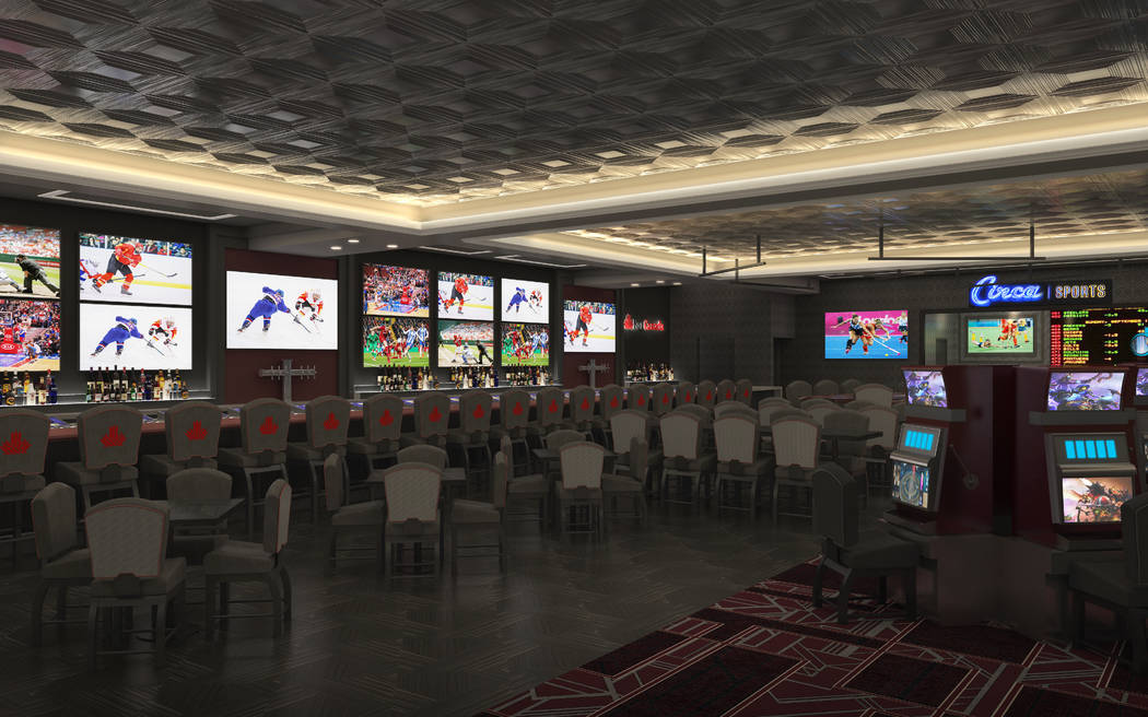 Artist rendering of the new BarCanada, coming to the D Las Vegas in March. (PGAL)