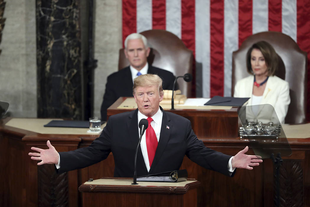 President Donald Trump delivers his 2020 State of the Union address. (AP Photo/Andrew Harnik, File)