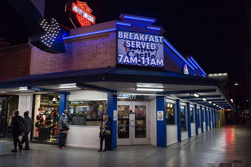 White Castle at the Fremont Street Experience in downtown Las Vegas on Tuesday, March 12, 2019. ...