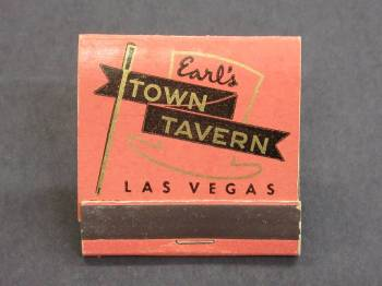 A matchbook cover from the collection at the Clark County Museum (Clark County Museum)