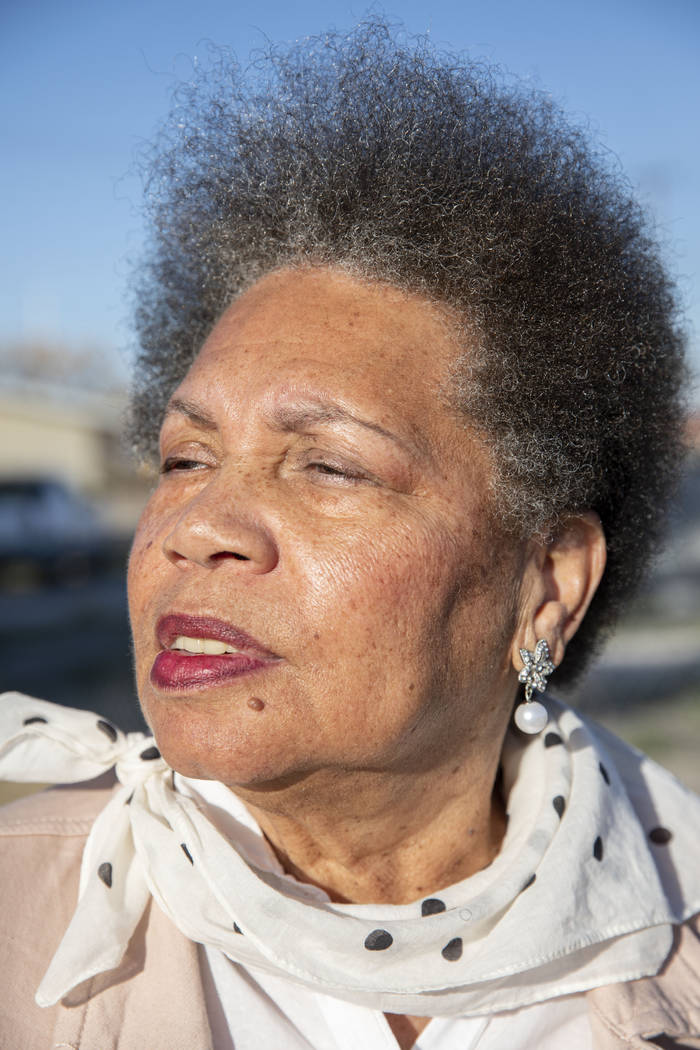 Jackie Brantley, is photographed in front of the home she grew up in located only two blocks aw ...