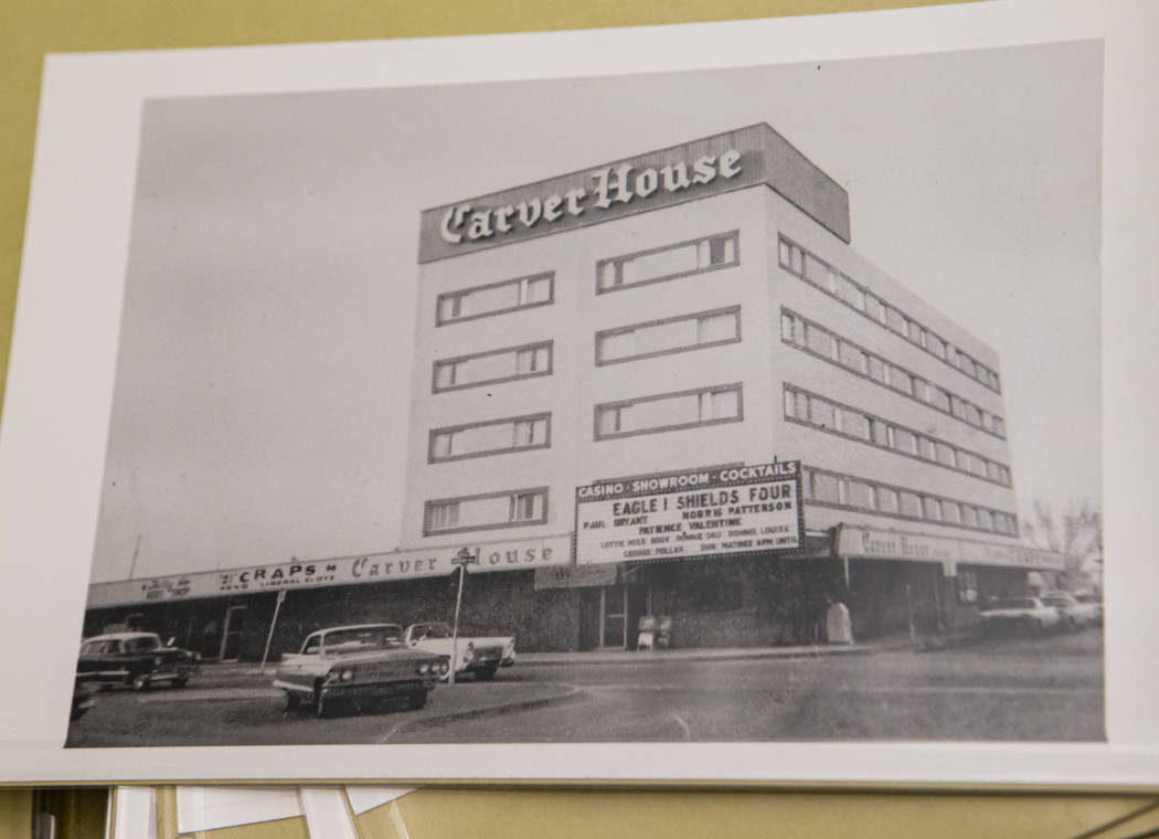 Carver House hotel-casino, D and Jackson streets, 1961 or 1962 in Las Vegas (UNLV Special Colle ...