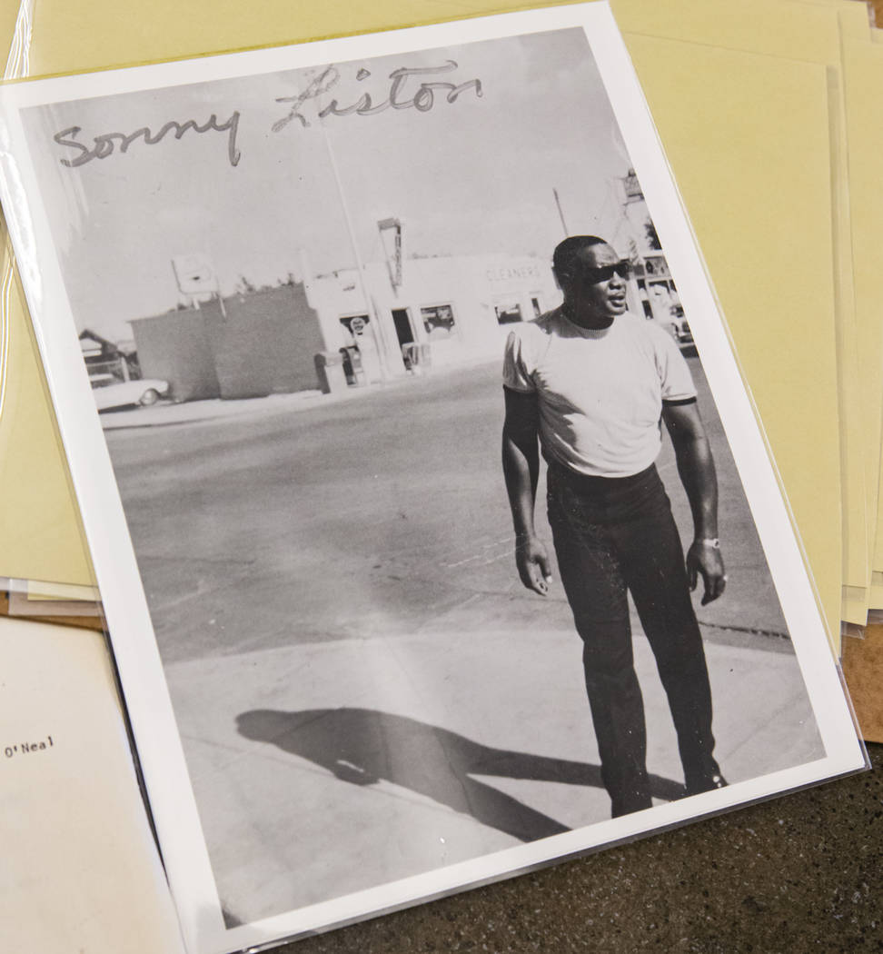 Sonny Liston outside of the Cove Hotel in Las Vegas. (UNLV Special Collections/Lloyd Gill Colle ...