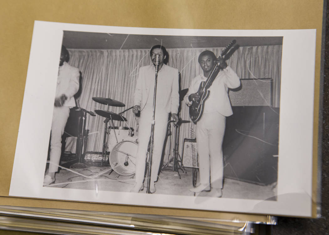 Unidentified musicians at the Carver House hotel-casino in Las Vegas. (UNLV Special Collections ...