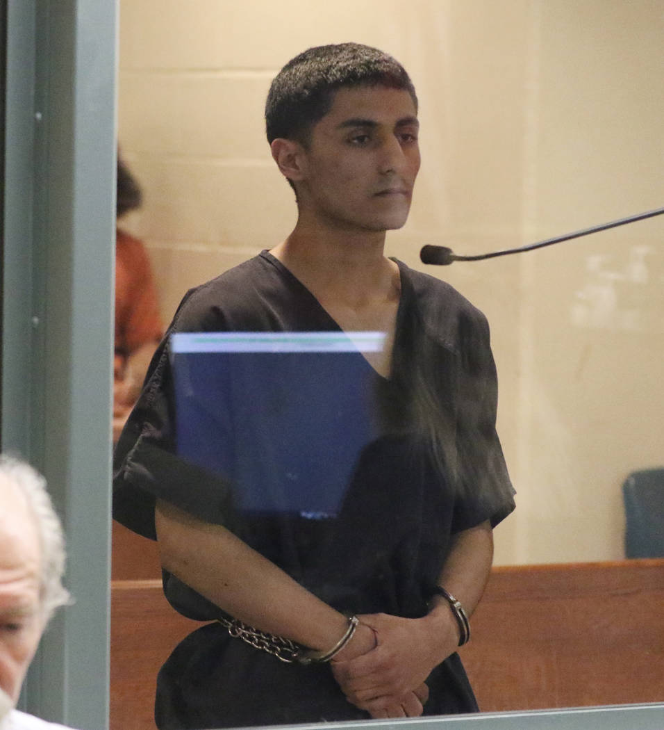 Christopher Valenzuela-Olivas appears in court at the Regional Justice Center on Thursday, Jan ...