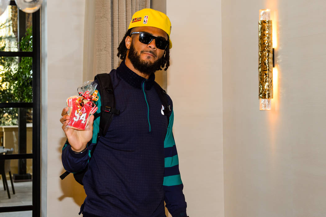 San Francisco 49ers' Fred Warner is shown at The Venetian on Monday, Feb. 3, 2020. (Las Vegas S ...