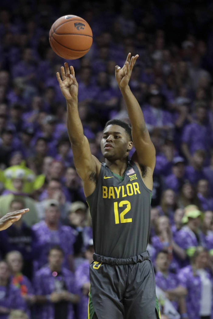 Baylor guard Jared Butler (12) during the first half of an NCAA college basketball game against ...
