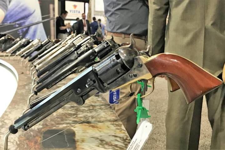 Classic firearms like this 1851 Navy Colt produced by Uberti USA remain popular among firearms ...