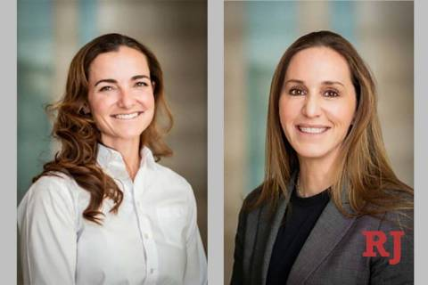 Sara McCrea, left, and Dina Dalessio are the first women named as deputy chiefs in the Las Vega ...