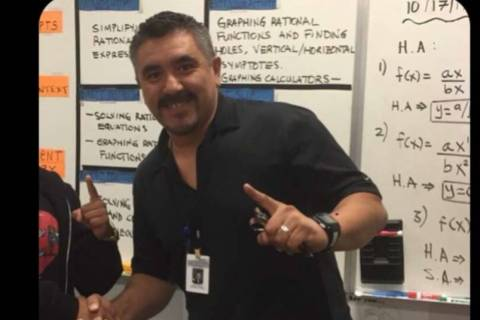 Jose Israel Ramirez Gamez, a math teacher and graduation advocate at Spring Valley High School, ...