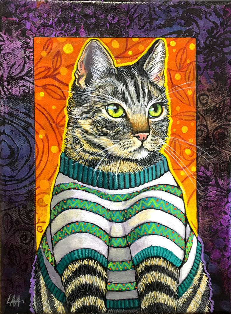 """""""Cozy Cat"""" by Lynne Adamson Adrian"""