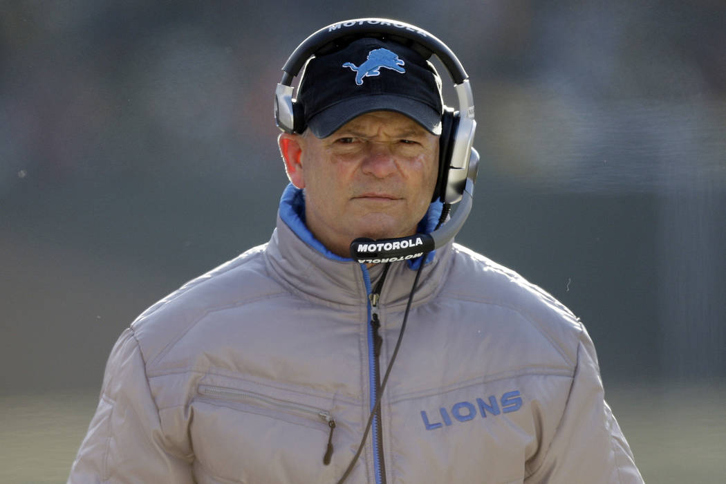 Detroit Lions head coach Rod Marinelli is seen during the second half of an NFL football game S ...